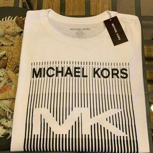 $70 MK MICHAEL KORS MENS WHITE XL TSHIRT TEE NWT